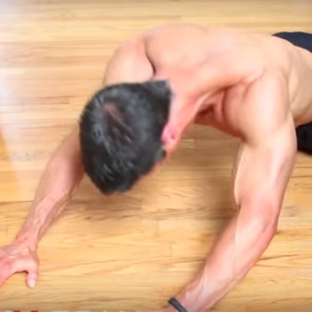 How to do: Bodyweight Straight Pulldown On The Floor - Step 1