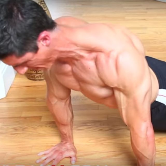 How to do: Bodyweight Straight Pulldown On The Floor - Step 2
