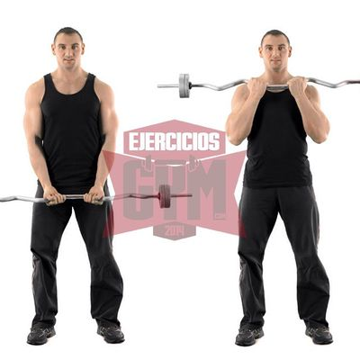 Close Grip Barbell Biceps Curl
