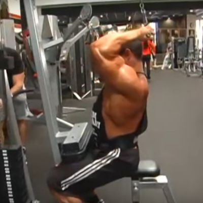 Biceps Overhead Cable Curl Behind The Neck