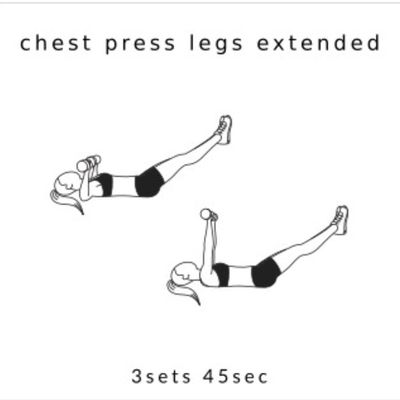 Chest Press Leg Lifts