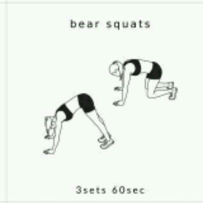 Bear Squats