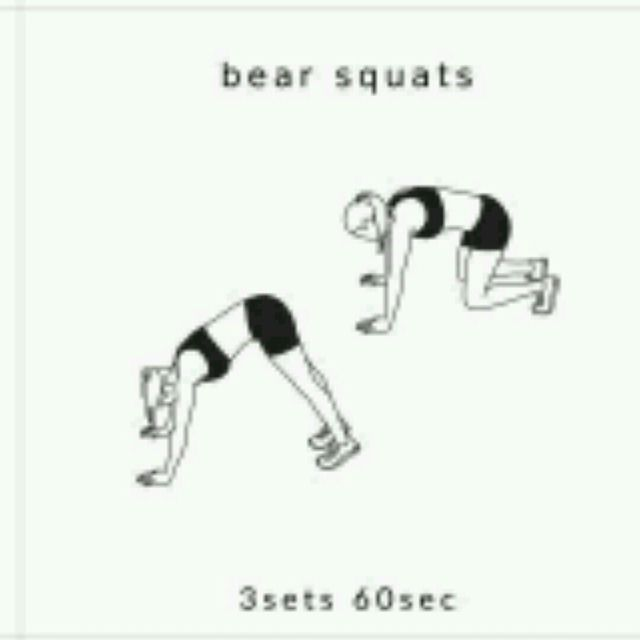 How to do: Bear Squats - Step 1