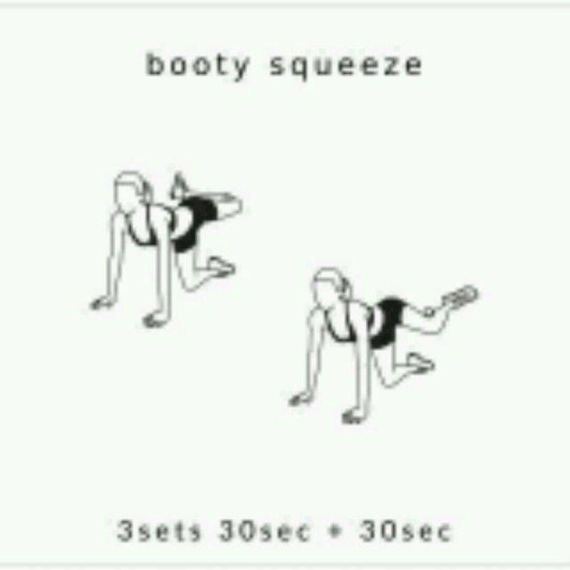 How to do: Booty Squeeze - Step 1