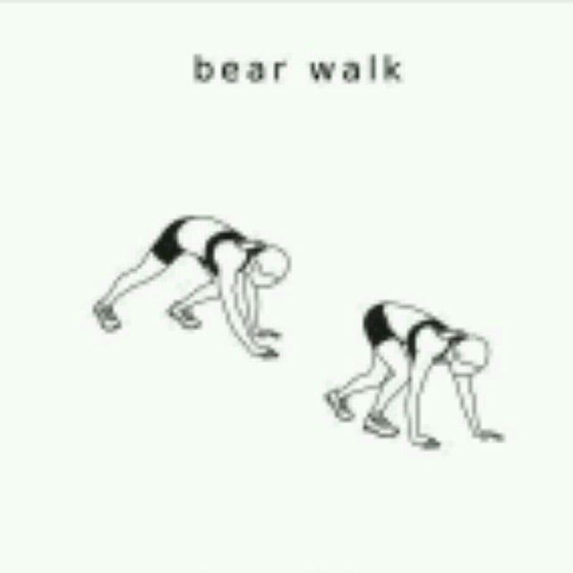 How to do: Bear Walk - Step 1