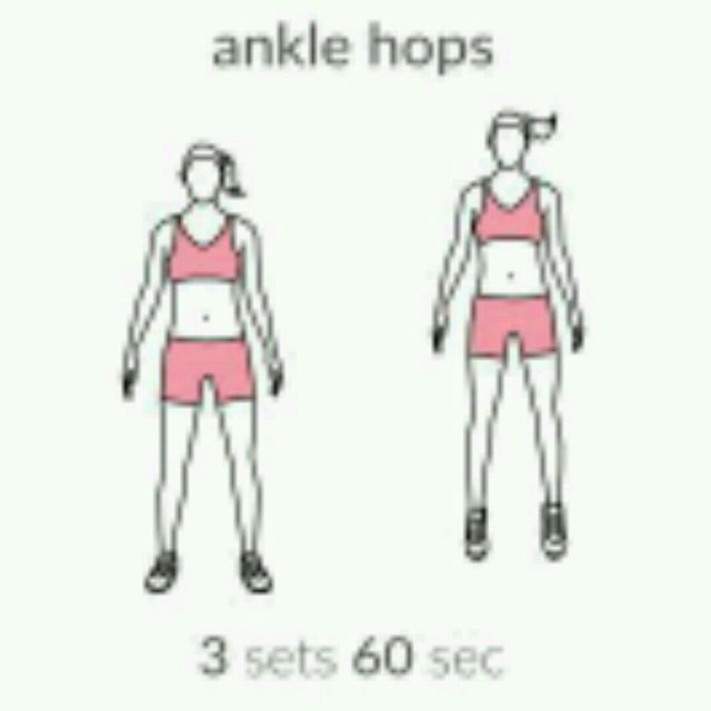 How to do: Ankle Hops - Step 1