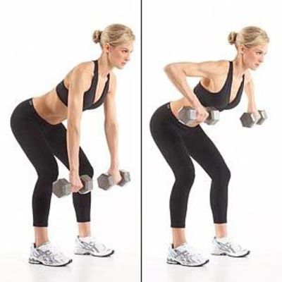 Wide Dumbell Row