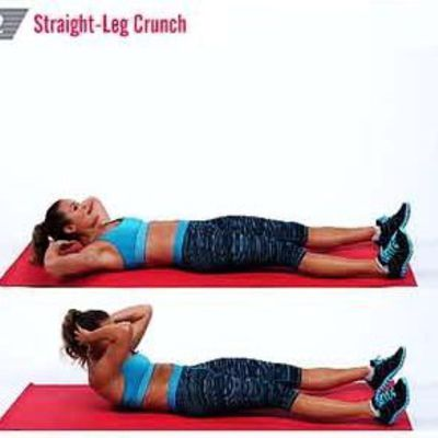 Straight Leg Crunch With Dumbell