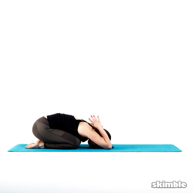 How to do: Child's Pose with Reverse Prayer - Step 1