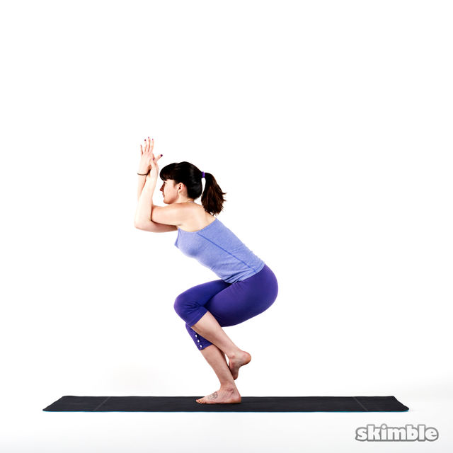How to do: Eagle Pose - Step 2