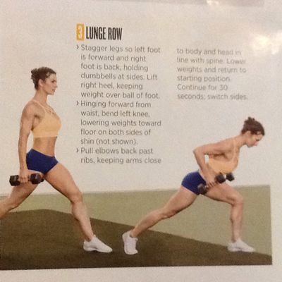 Alternating lunge row