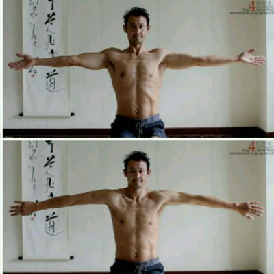 Arms to the Side Shoulder Rotations
