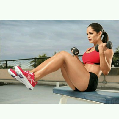 Seated Bicep Curl And Crunch
