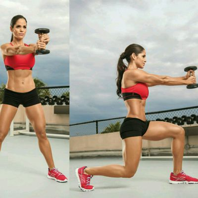 Dumbbell Twisting Lunge
