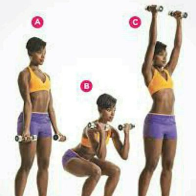 Bicep Curl - Squats - Thrusters