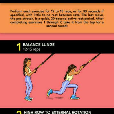 Balance Lunge Trx