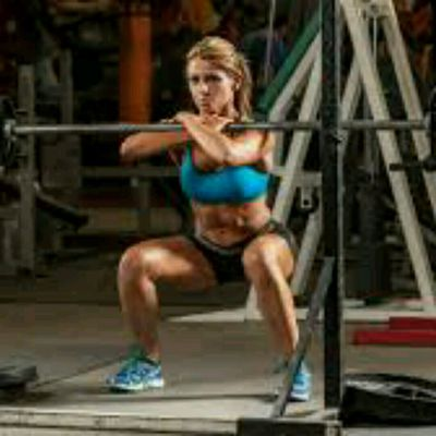 Barbell front loaded sumo squats