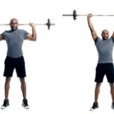 Barbell Behind Neck Press