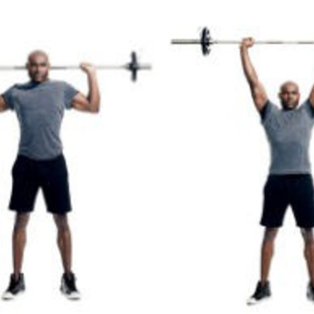 How to do: Barbell Behind Neck Press - Step 1