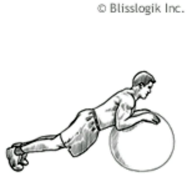 How to do: Ball Triceps Extension - Step 1