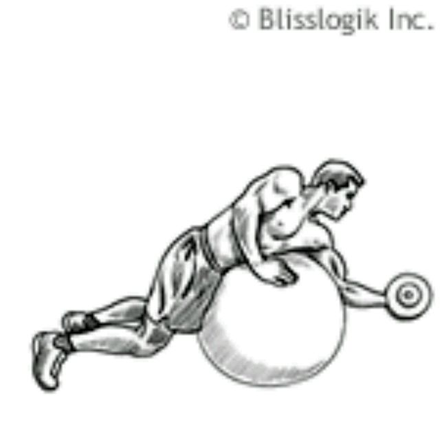 How to do: Ball Biceps Curl – on Knees - Step 1