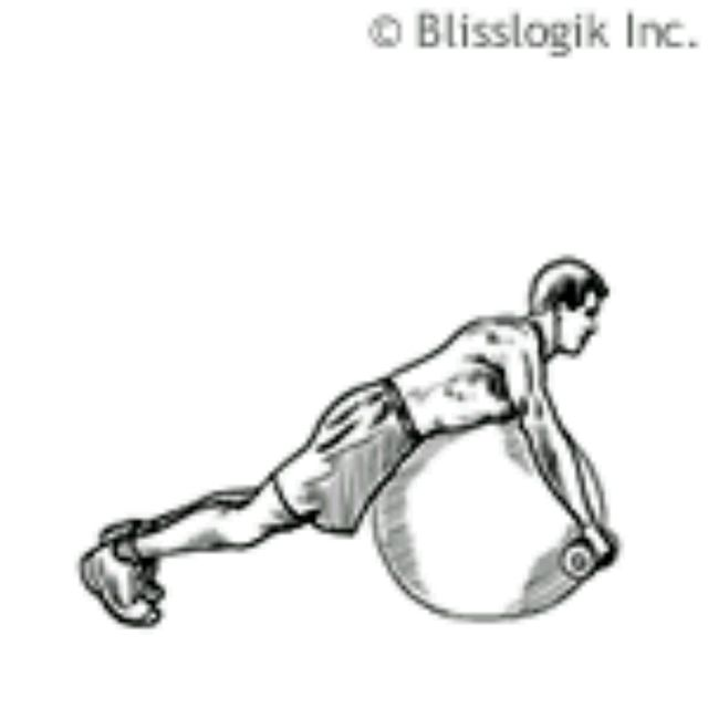 How to do: Ball Rear Deltoid Row - Step 1