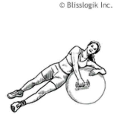 Ball Rear Deltoid Raise – Lying Sideways
