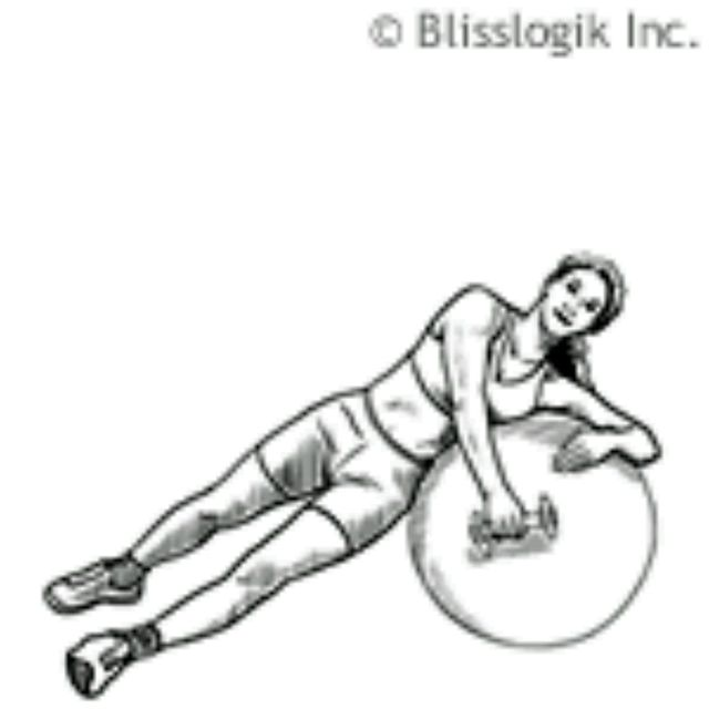 How to do: Ball Rear Deltoid Raise – Lying Sideways - Step 1