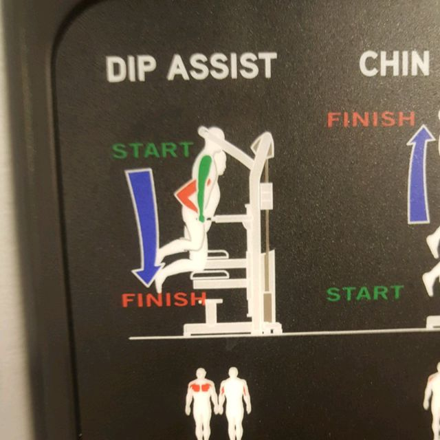 How to do: Assisted Dips - Step 1