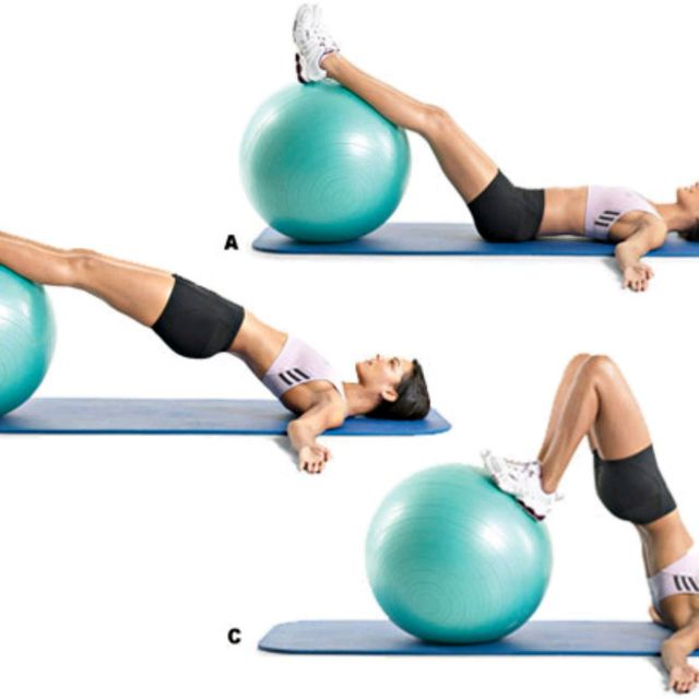 How to do: Ball Hip Raise - Step 1