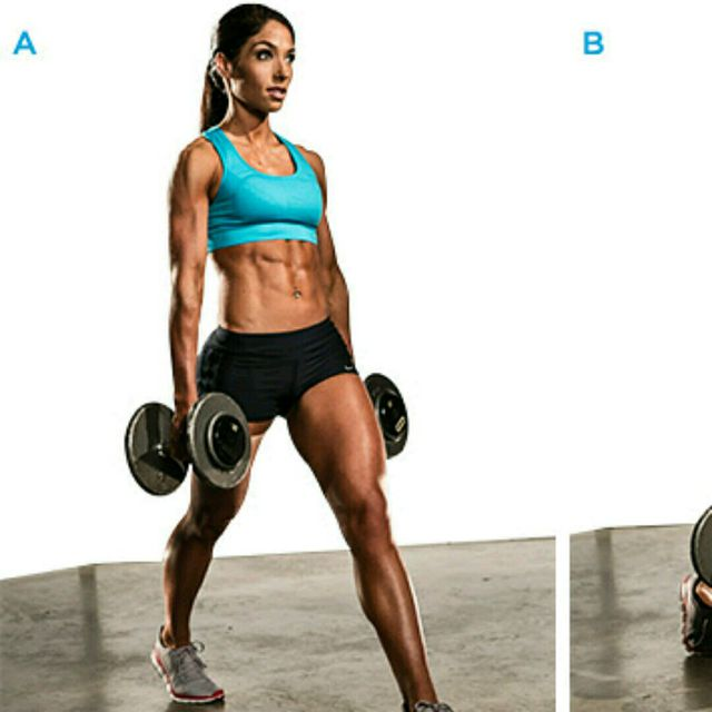 How to do: Alternating Weighted Lunges - Step 1