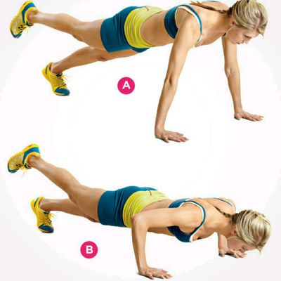 Push-up w/ Leg Raises