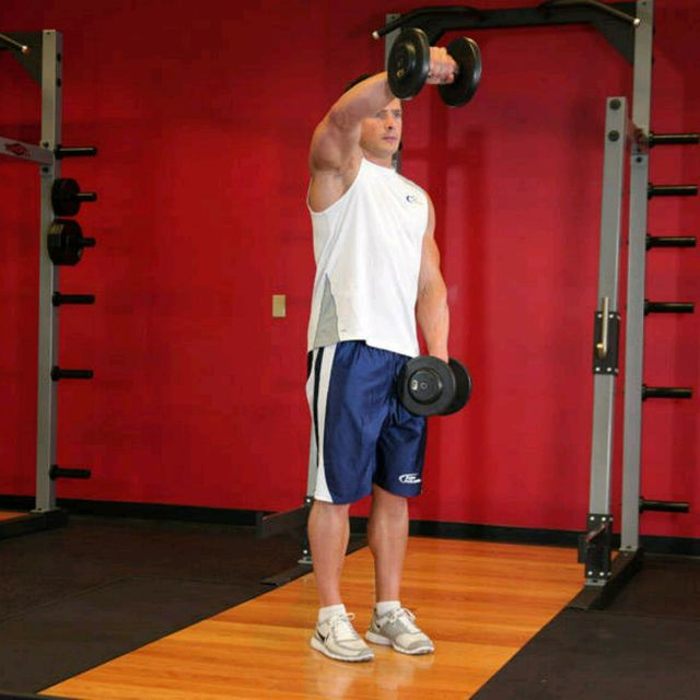 How to do: Front Dumbbell Raise - Step 1