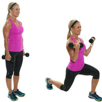Lunge With Curl