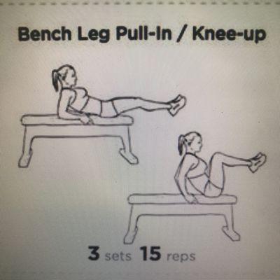 Bench Leg Pull-in