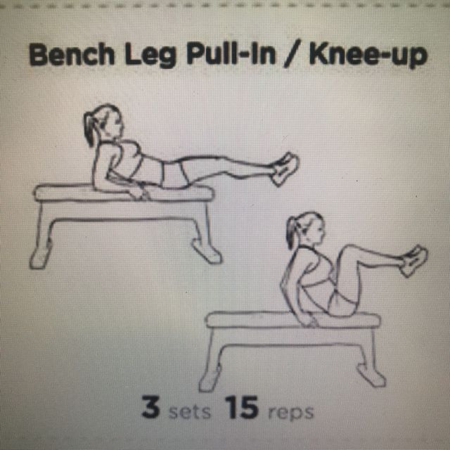 How to do: Bench Leg Pull-in - Step 1