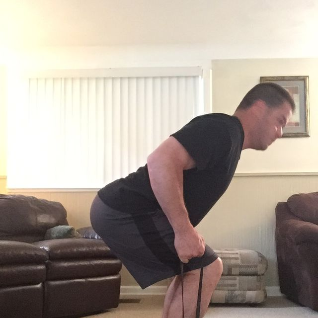 How to do: Resistance Band Bent Over Row - Step 3