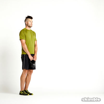 Left Lunge with Kettlebell Raise
