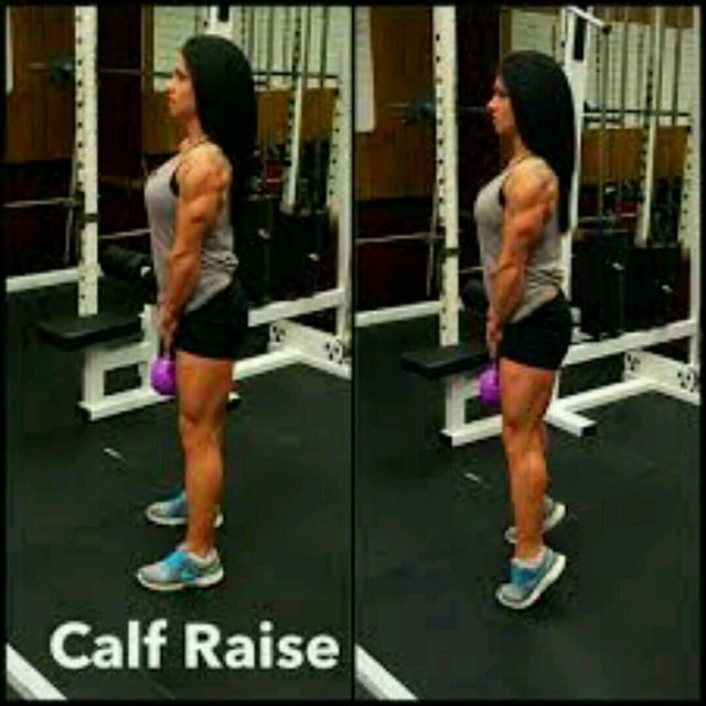 How to do: Kettlebell Calf Raises - Step 1