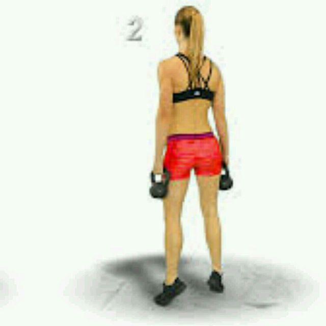 How to do: Kettlebell Calf Raises - Step 3