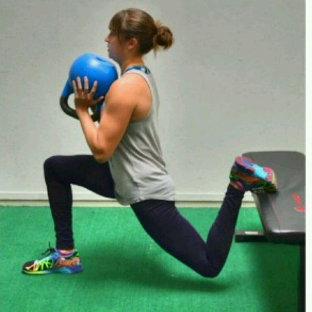 How to do: Kettlebell Bulgarian Split Squats - Step 5