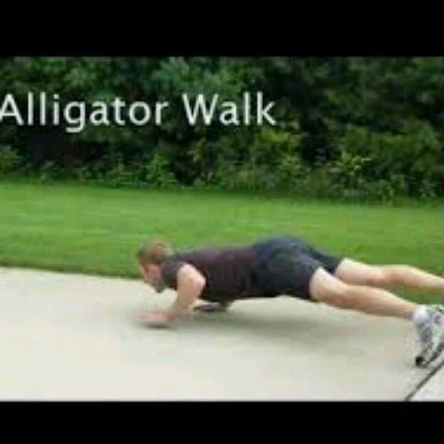 How to do: Alligator Walk - Step 1