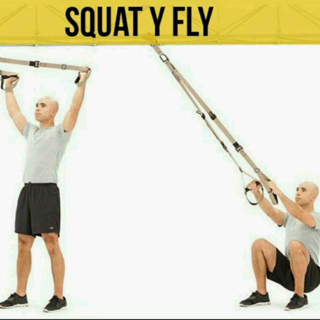 How to do: Squat Y Fly - Step 1
