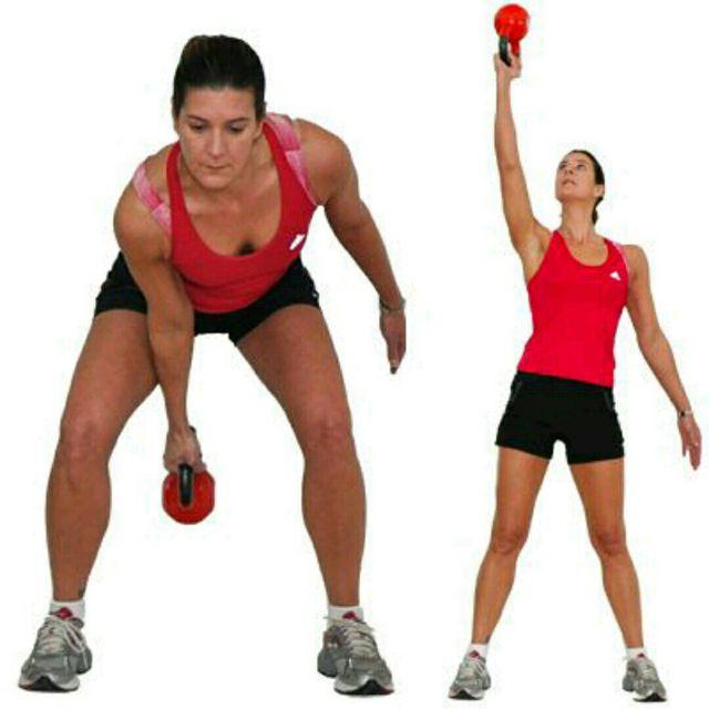 How to do: Alternating Single Arm Kettlebell Overhead Swing - Step 1