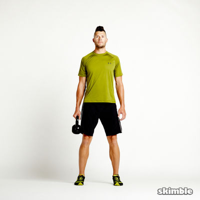 Right Suitcase Squats with Kettlebell