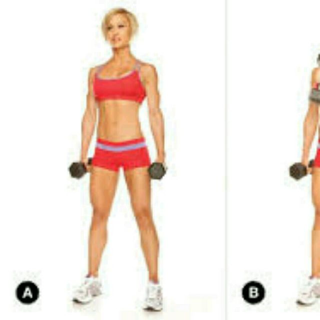 How to do: Alternating Cross Body Curl - Step 2