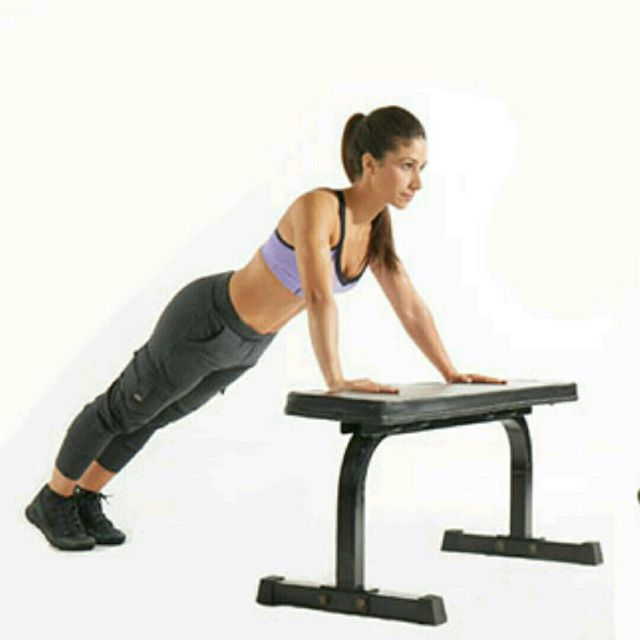How to do: Bench Pushups - Step 1