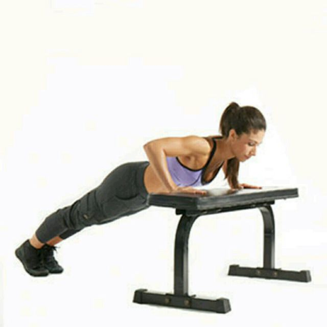 How to do: Bench Pushups - Step 2