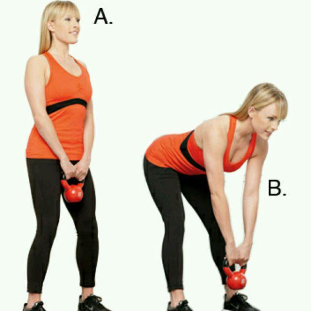 How to do: Kettlebell Stiff Leg Deadlift - Step 2