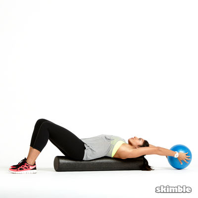 Ball Reaches on Foam Roller
